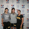 2014 USAW Jr Women`s FS Nationals<br /> Iowa All Americans<br /> Rachel Watters, Cassey Herkelman, Jasmine Bailey