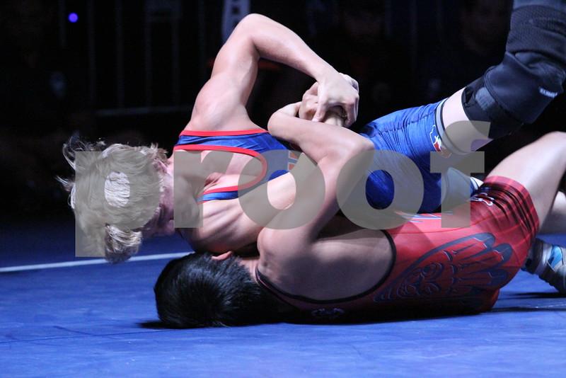2015 USA Wrestling Cadet Nationals Greco-Roman<br /> 120 - 3rd Place Match - Clai Quintanilla (Washington) over Alex Thomsen (Iowa) (Dec 10-9)