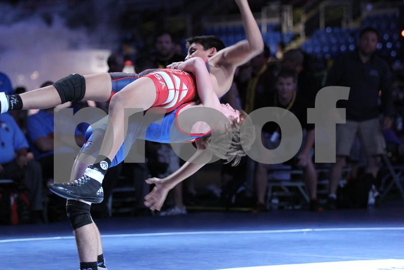 2015 USA Wrestling Cadet Nationals Greco-Roman<br /> 106 - 5th Place Match - Aden Reeves (Iowa) over Izzak Olejnik (California) (TF 11-0)