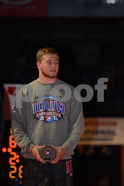 2015 USA Wrestling Cadet Nationals Greco-Roman<br /> 195 - 7th Place  - Garrett Kubovec (Iowa)
