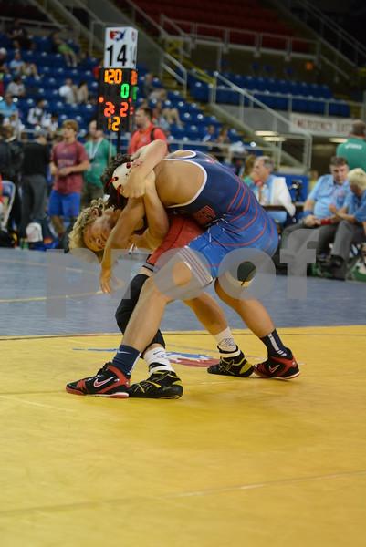 2015 USA Wrestling Cadet Nationals Greco-Roman<br /> 120 - Champ. Round 4 - Alex Thomsen (Iowa) over P.J. Gohn (New Jersey) (Fall 1:19)