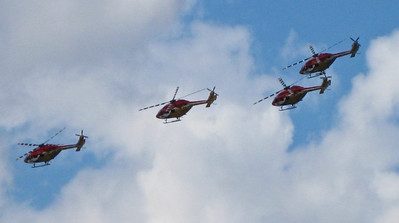 Indian Air Force Helicopter Team - Farnborough Air Show 2008