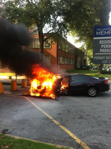 U of M car fire. July