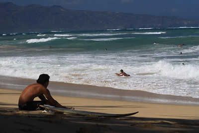 Surfer at Paia beach