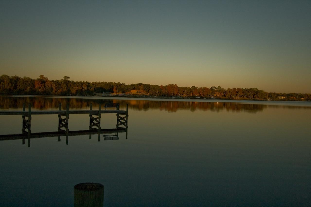 Reflection at sunset in Valparaiso, Florida