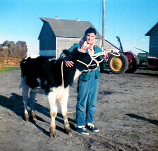 Gail Anderson (Mom) on the farm in Nebraska.