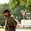 Mike Cole, a Nathan Bedford Forrest look-a-like at the statue of the General