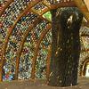 Old CDs make a treehouse at Cheekwood Gardens, NAshville