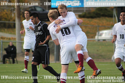 Whitworth's Andrew French celebrates goal
