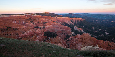 Cedar Breaks National Monument. Dawn from the Chessmen Ridge Overlook