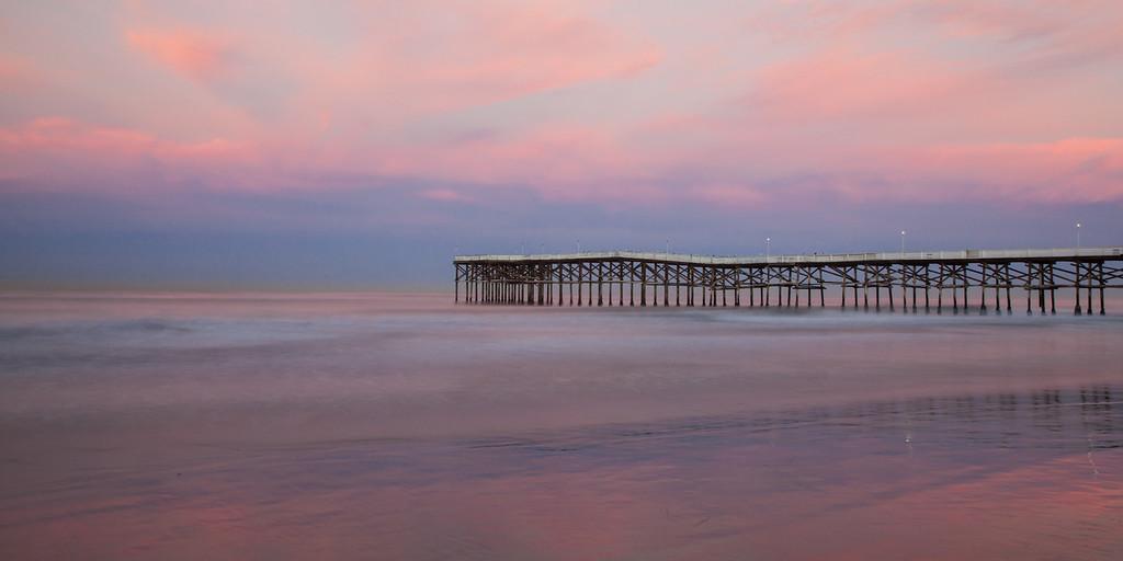 Crystal Pier at sunrise. San Diego, Ca.