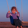 Kids playing outside at sunset - 10