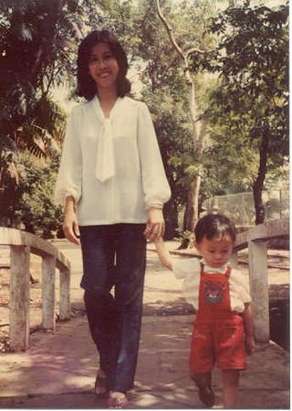 Mom and I.