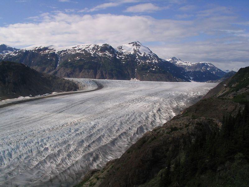Salmon Glacier closer