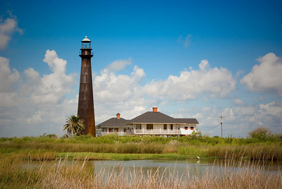 Bolivar light house, Port Bolivar, Texas