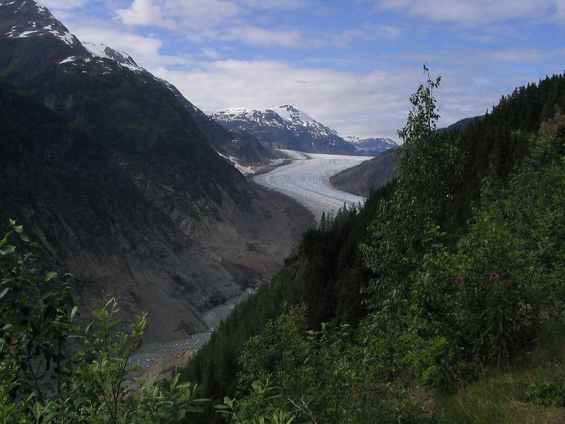 Salmon Glacier in the distance