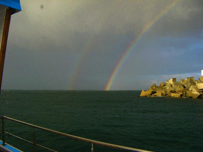Double Rainbow at Sea