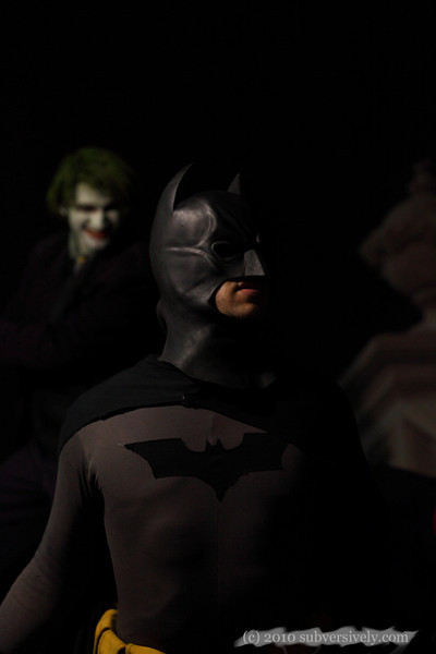 Batman and the Joker from the cosplay crew United Underworld.