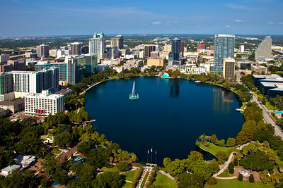 Orlando Skyline with Lake Eola