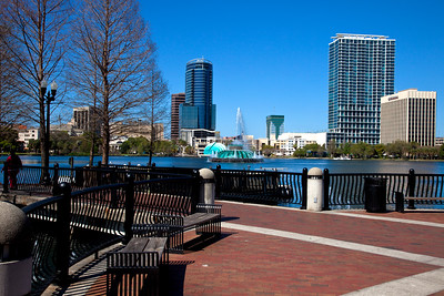 Walkway at Lake Eola, Orlando, Florida