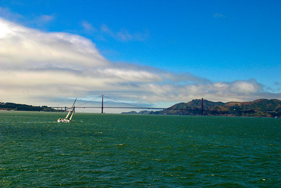 Golden Gate Bridge on the San Francisco Bay, California