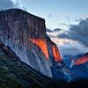 El Capitan puts on a show at sunset; oct 2012