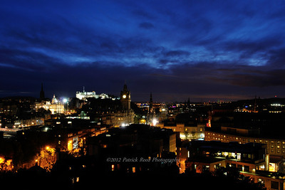 Edinburgh at night from Calton Hill