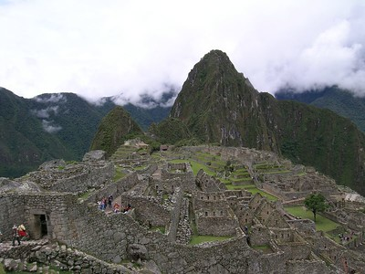 """November 2003 Machu Picchu, Peru - The hardest part about photographing Machu Picchu is taking off your lens cap, the scenery does the rest. If there is one place you visit in Latin America, this place is it. And its not just Machu Picchu, Cusco, the imbarkation point, and its surrounding sites are all part of the package. Really, the best time to go is May/June when the dry season kicks in just after the wet season so everything is still green. This was my second visit. I recently saw Machu Picchu on TV on a show that listed it among the top ten man-made wonders of the world. I take some satisfaction from the fact that I can say """"Been there, done that.. TWICE""""."""