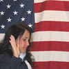 Cissa taking U.S. citizenship oath