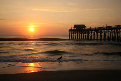 Sunrise At Cocoa Beach Pier