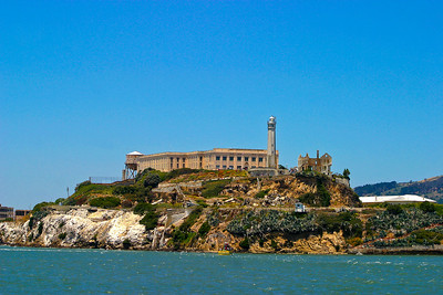 Alcatraz, A rocky island in San Francisco Bay. It was the of a top-security federal prison between1934 and 1963