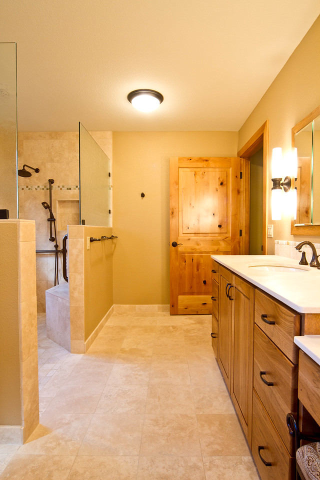 Overview of accessible bathroom.