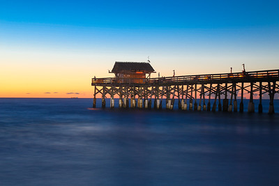 Just before sunrise at Cocoa Beach Pier.