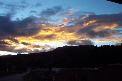 June 2001 Cusco, Peru - Yet another pretty sunset.
