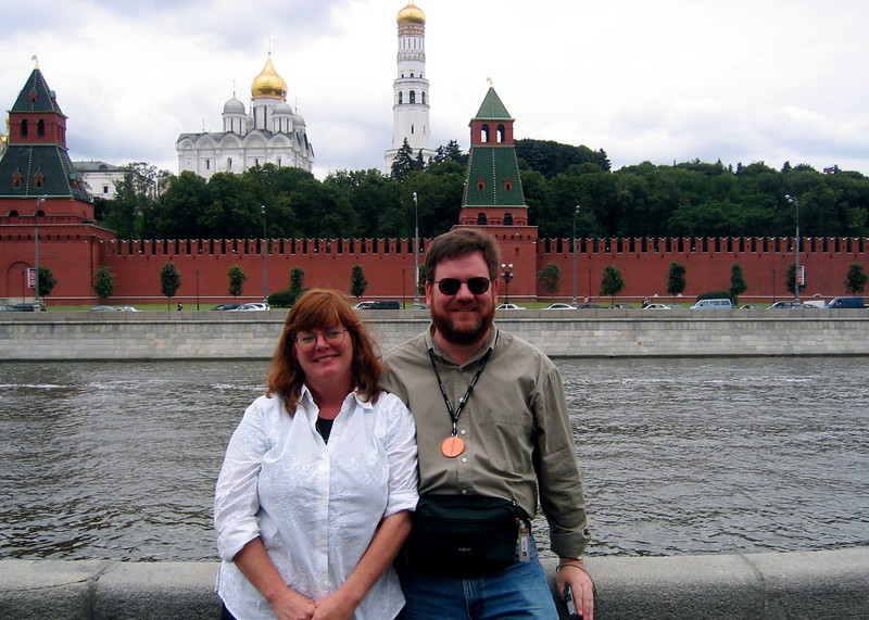 Stephen and his sister Cary at the Kremlin