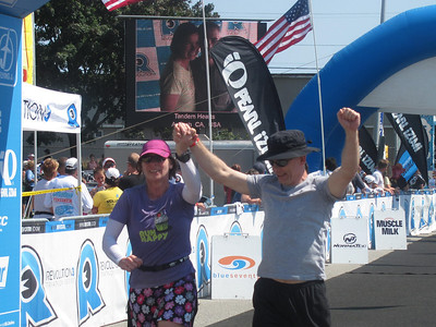 Thom and Veronica finish a 70 mile relay in Maine. (Photo: Noreen Keeler).
