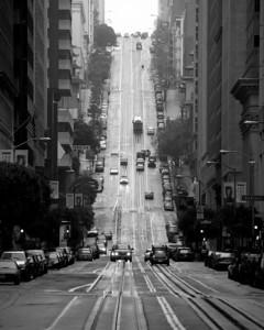 "California Street, San Francisco. 2009 Marblehead Festival of Arts, ""Best of Show, B&W"""