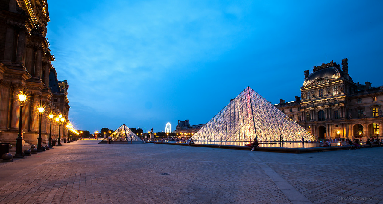 Twilight at the Louvre
