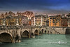 Porte Sant Angelo over the Tiber River, Rome, Italy