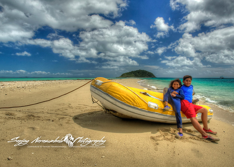 Kethan & Vasantha, Langford Reef Island, Whitsunday Islands, Australia 2006