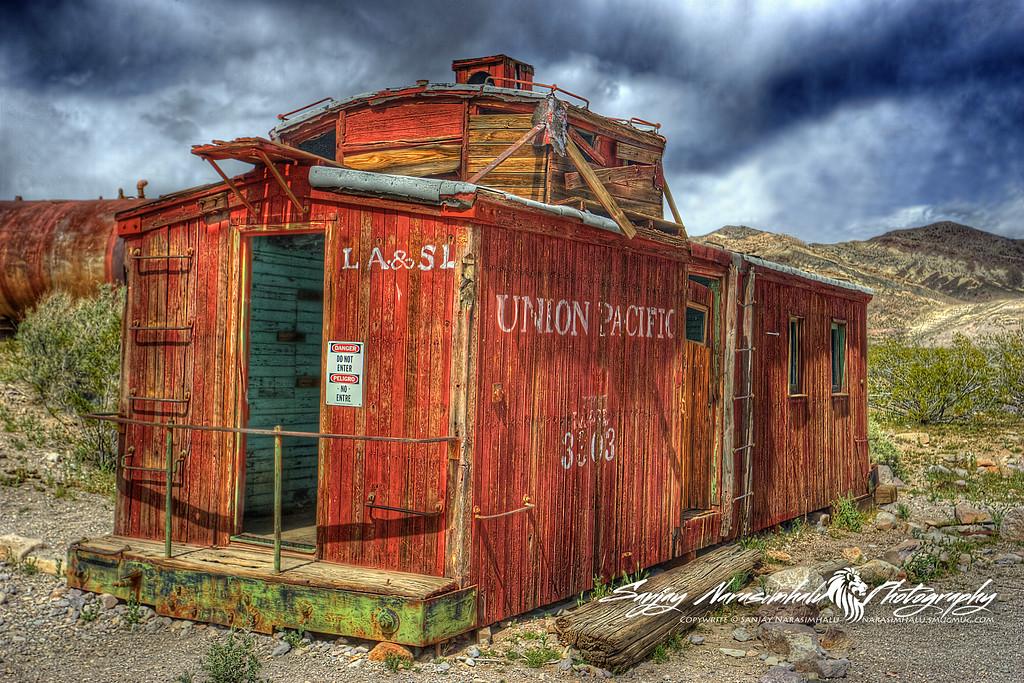 Derelict Caboose, Rhyolite Ghost Town, Death Valley, Nevada
