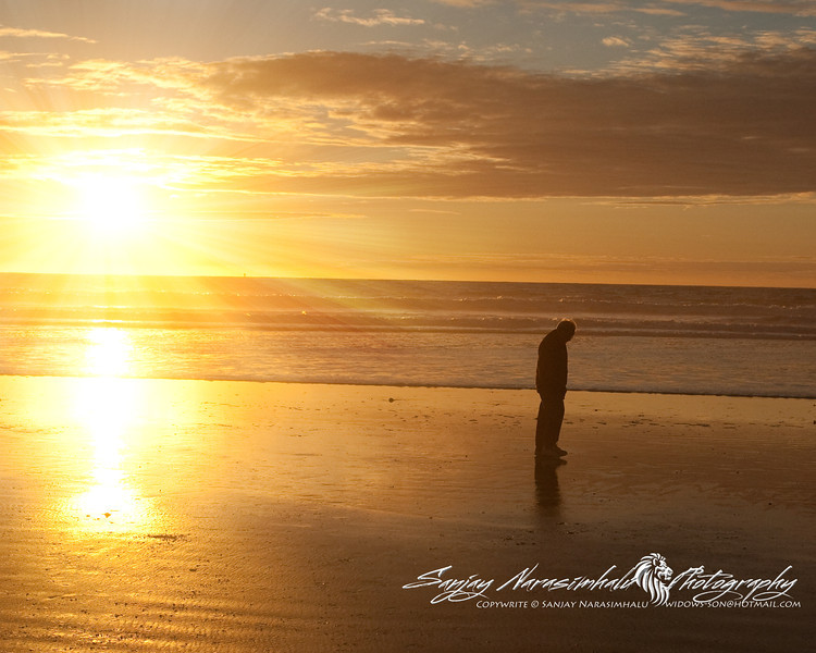 Grampy Reflecting on a Sunset, Morro Bay, California December 30, 2009