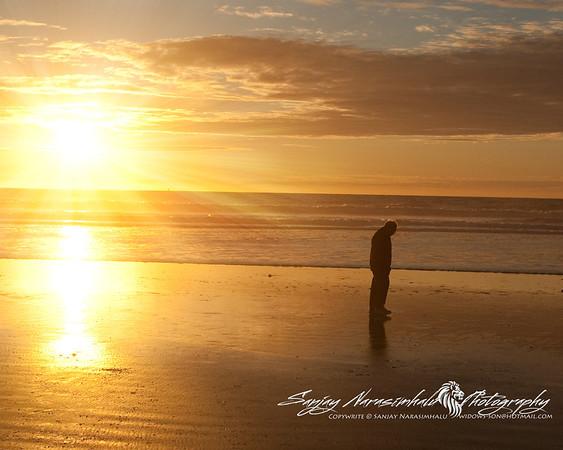Grampy Reflecting on a Sunset, Morro Bay, California December 30, 2009
