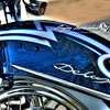 Harley Davidson Deluxe Tribal Paint, Bakersfield, California, November 1, 2009
