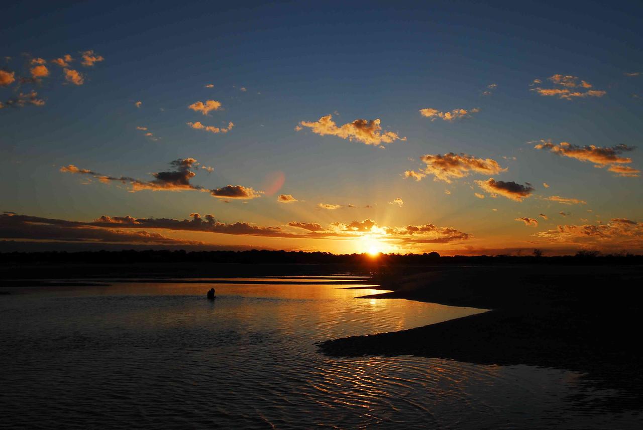 Winter sunset over the Elliott River estuary.