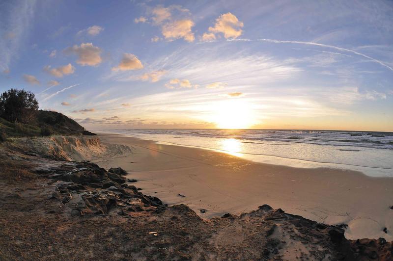 Dawn at Happy Valley, Fraser Island.