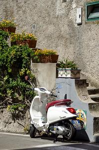 Parked Vespa