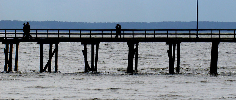 A kiss on a pier, somewhere in Canada