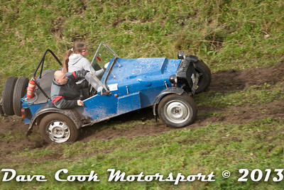Nick Farmer and Katrina Selwood in the Cannon Alfa had a harder job clearing Litton, but managed to power their way through