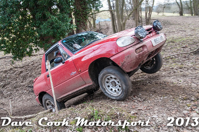 2013 will probably be rememebered as the year the X90's came of age.Chris Maries and Graham Whiteheadin their Suzuki X90 at Copt Hall on the March Hare Trial